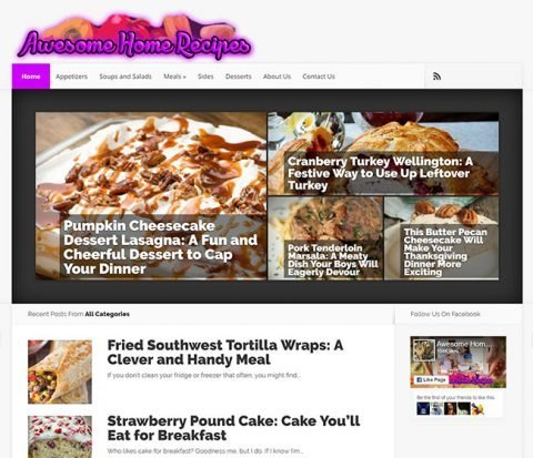 Thumbnail of Awesome Home Recipes Website