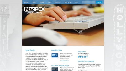 Thumbnail preview image of the MacPCX website.