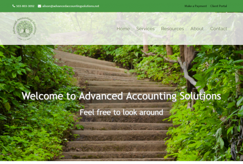 Advanced Accounting Solutions website thumbnail image